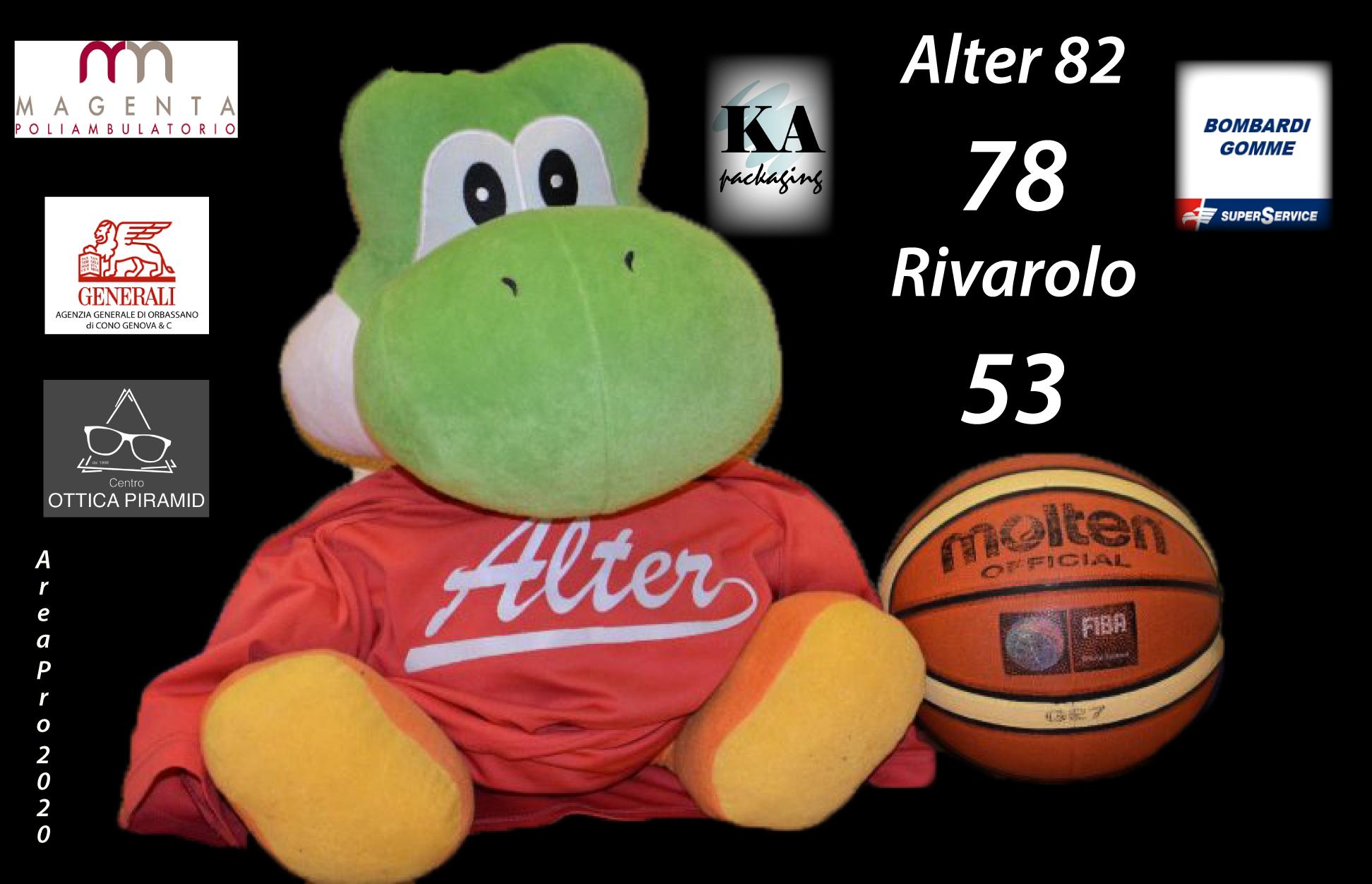 Serie C silver Alter, vince e convince contro Rivarolo