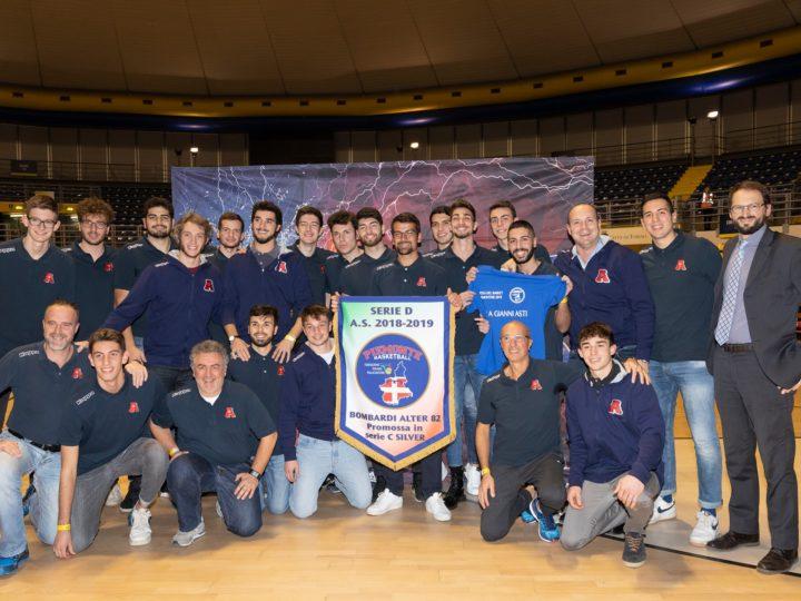 Festa del basket Piemonte: premiata la promozione in serie C,  Bombardi Alter 82