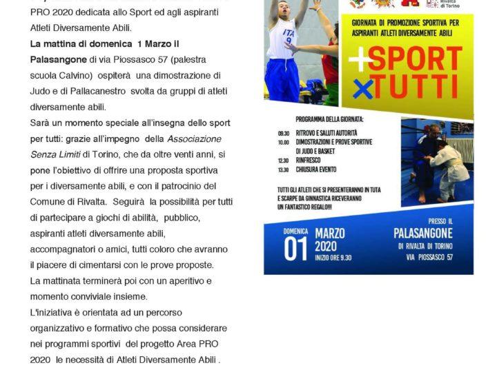 RINVIATA… sport per tutti: giornata di promozione sportiva per aspiranti atleti diversamente abili