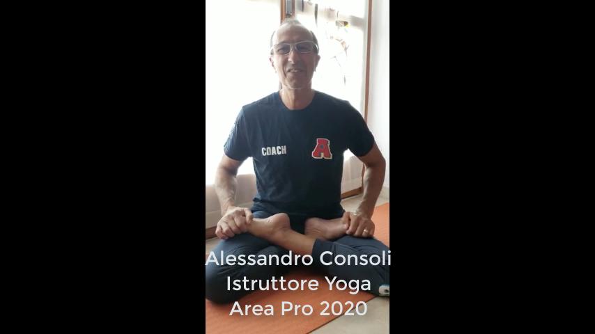 Dopo 55 giorni finisce il corso online di Yoga-Pranajama di Alessandro Consoli.