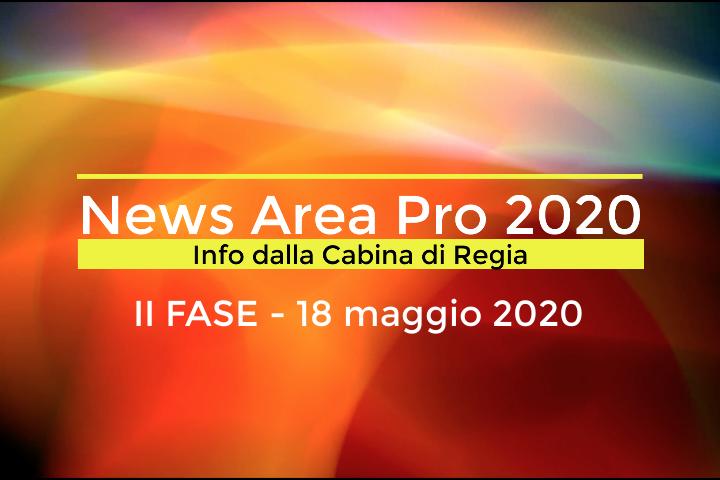Fase II 18 maggio 2020: video messaggio cabina di regia Area Pro 2020.