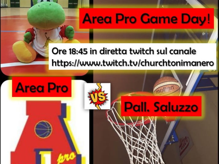 Area Pro Game Day: 7 marzo 2021, Area Pro 2020 – Saluzzo, diretta su canale Twitch,  ore 18.45.