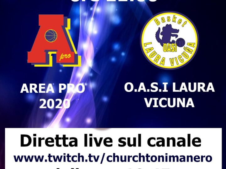 Under 13 Elite Area Pro 2020-Oasi Laura Vicuna, diretta video