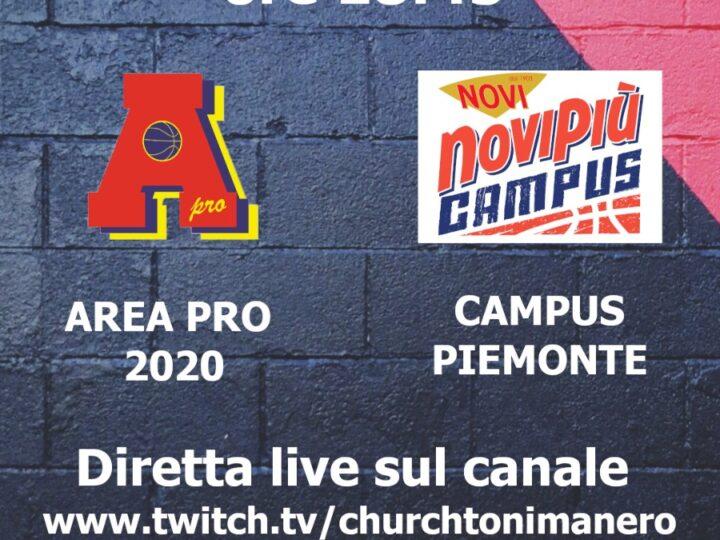 Serie C : Area Pro 2020 vs Campus Piemonte. Un gradito ritorno alle origini per Matteo Corgnati e Giacomino Gallo (ass.coach).