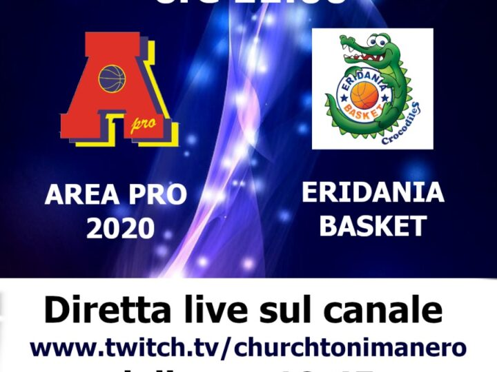 U 13 Elite: AreaPro2020-Eridania in diretta su tonimanero web tv
