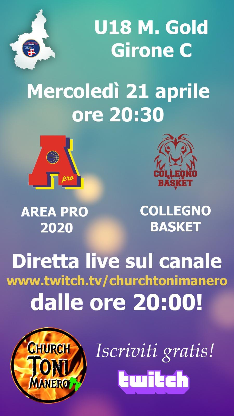Under 18 gold: Area Pro 2020 vs Collegno. Diretta web.tv su churchtonimanero. Guarda in seguito la registrazione.