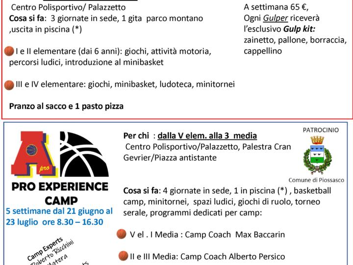 Gulp Camp 2021: Iscrizioni fino al 8 giugno 2021