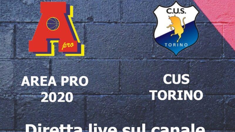 Serie C: Area Pro 2020 vs Cus Torino al Palapiossasco