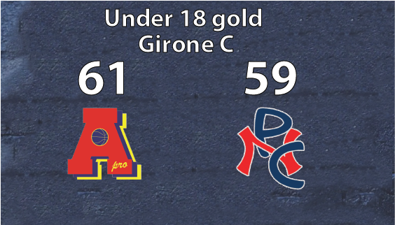 Under 18 gold: Vittoria al cardiopalma contro Ciriè