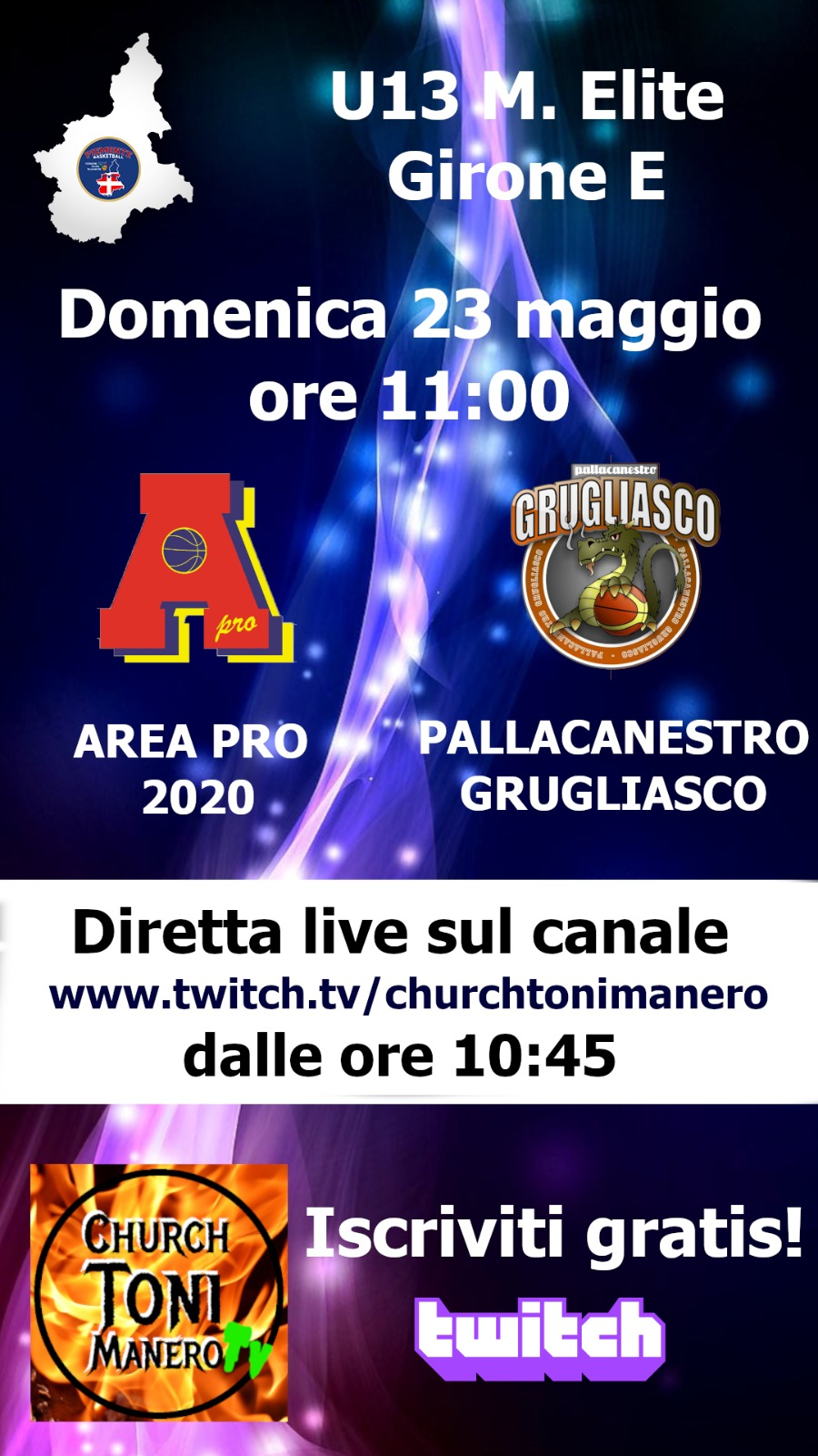 under 13 elite: Area Pro 2020-Grugliasco al Palasangone