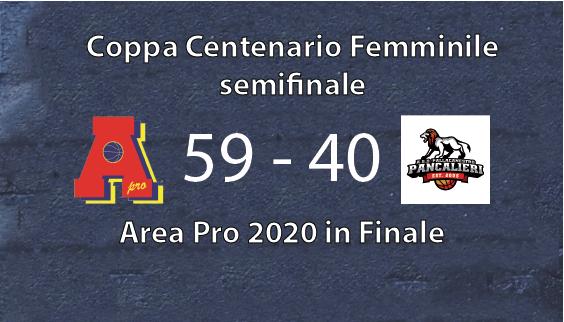 Coppa centenario femminile: AreaPro vince con Pancalieri e vola in finale il 29 giugno 2021, contro Acaja Fossano al Palasangone.