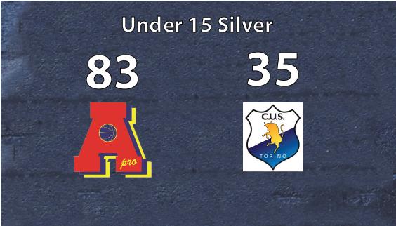 under 15 silver Area Pro 2020 vittoriosa sul Cus Torino e prima in classifica nel girone.