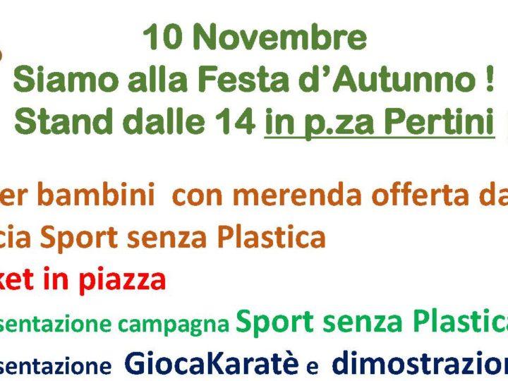 """Festa d'Autunno a Piossasco: Area Pro2020 presentazione campagna """"Sport senza Plastica"""""""