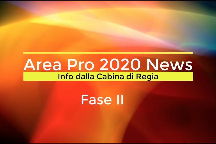 FASE II: Messaggio a tutti i ragazzi/e Area Pro 2020