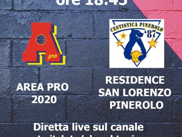 C silver AreaPro2020-Pinerolo Dom 21-03-2021 Palasport Piossasco: diretta dalle 18.15