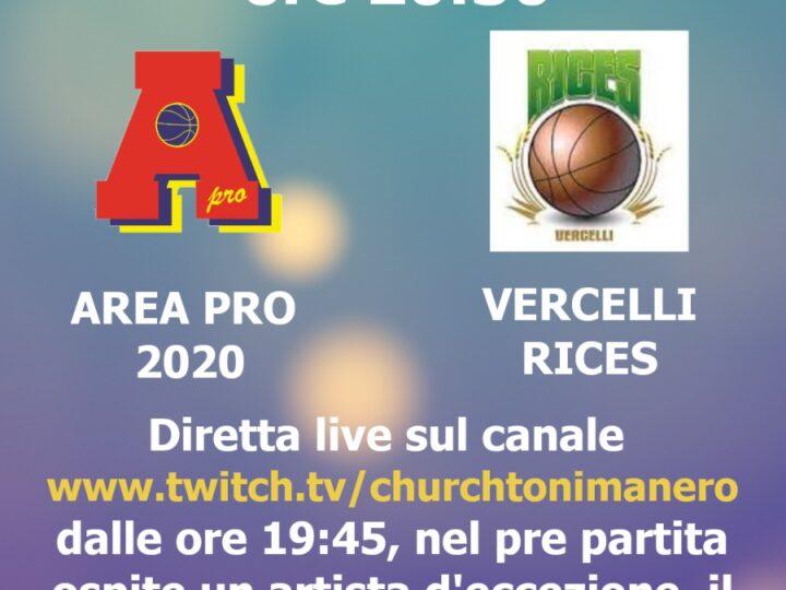 Under 18 gold: AreaPro2020-Vercelli Rices in diretta webtv