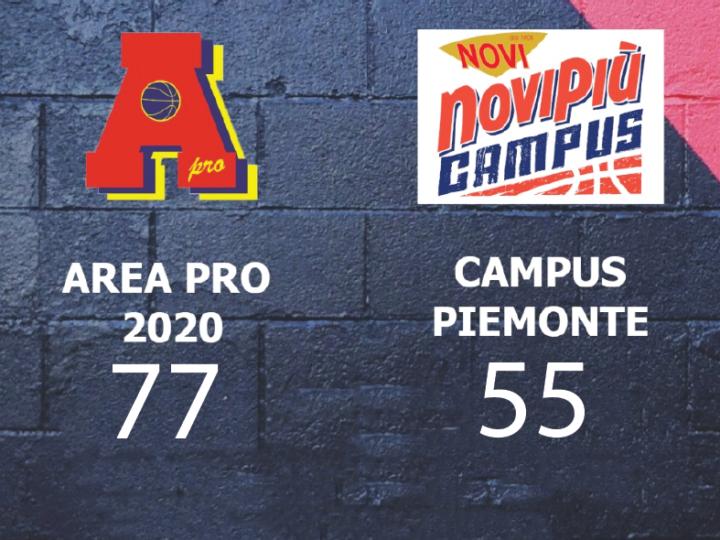 Serie C: Area Pro 2020 vince e convince contro Campus Piemonte 77-55