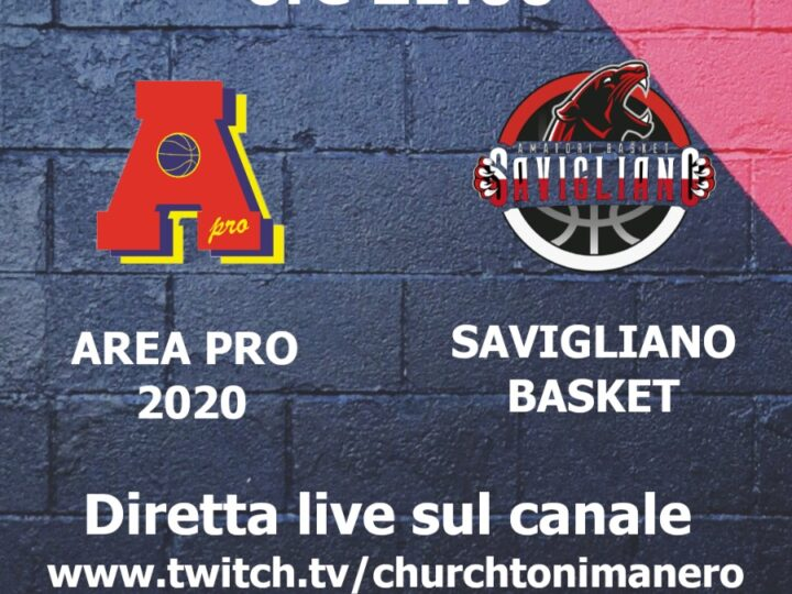 Serie C: Area Pro 2020 ospita Savigliano ore 21.00 Palasport Piossasco. Diretta su churchtonimanero web-tv.