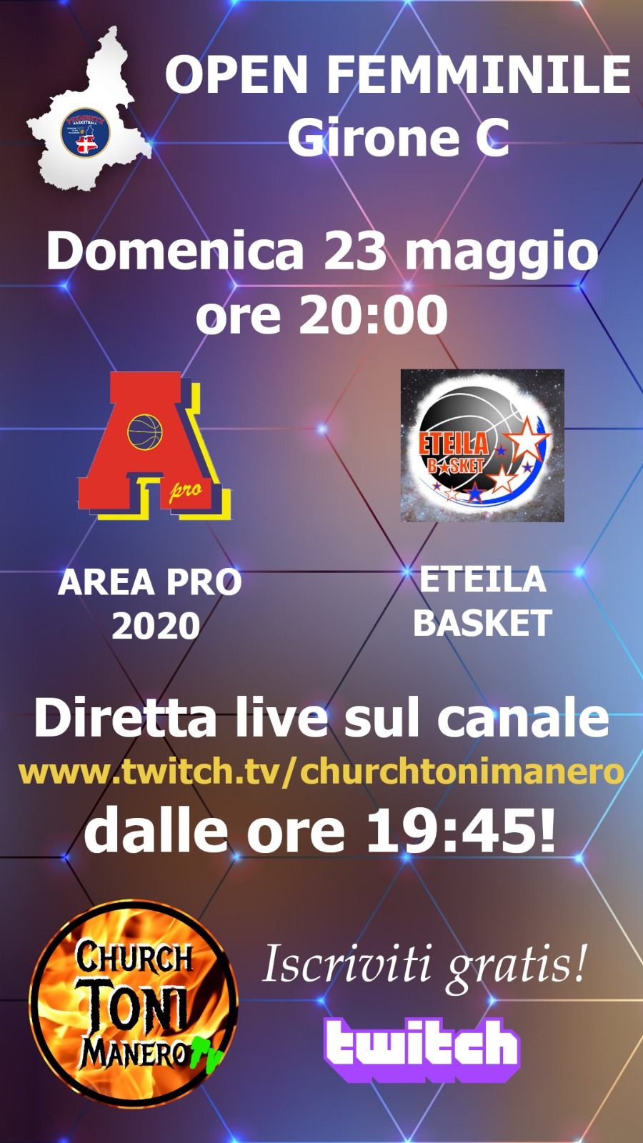 Open Femminile domenica 23 maggio 2021 ospita  Eteila Aosta al Palasangone.