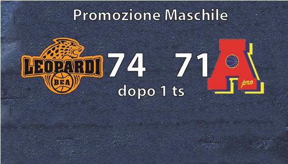 Promozione maschile: perde a Chieri dopo  un tempo supplementare.