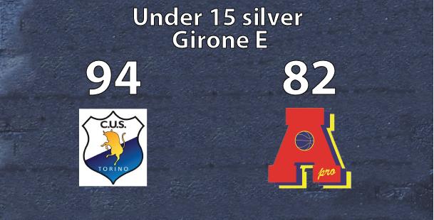 under 15 silver: Cus Torino supera Area Pro 2020