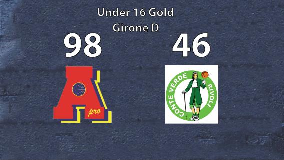 Under 16 gold: Area Pro 2020 vince con Conte Verde