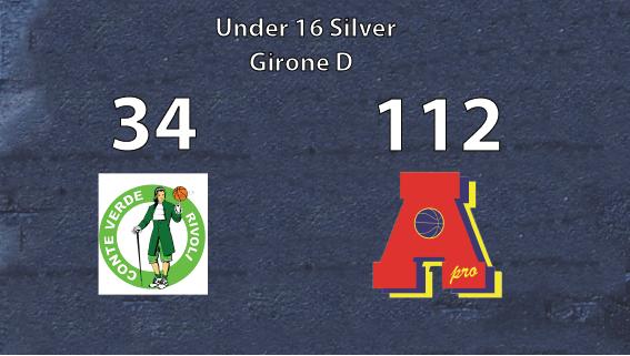 Under 16 gold: vittoria bis contro Conte Verde.