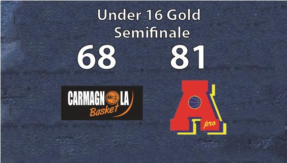 Under 16 Gold: vince la prima semifinale contro Carmagnola. Ritorno sab 5 giugno 2021 ore 19.00 Palapiossasco