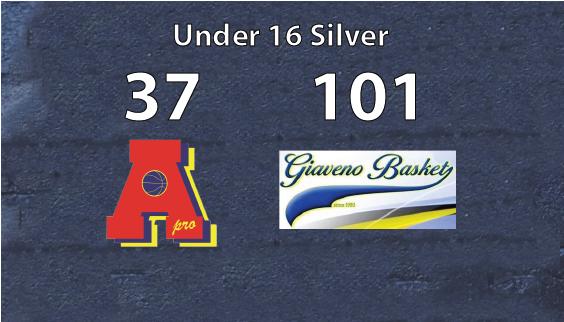 Under 16 silver perde a Giaveno