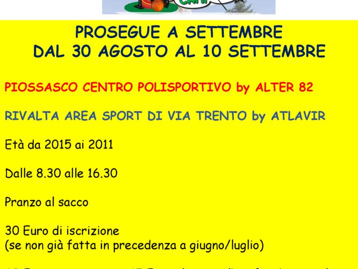 Gulp Camp raddoppia: dal 30 agosto al 10 settembre 2021 a Piossasco e Rivalta.