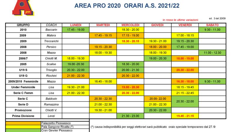 Pronti per una nuova stagione sportiva?  Ecco gli orari per l'attività 2020-2021.