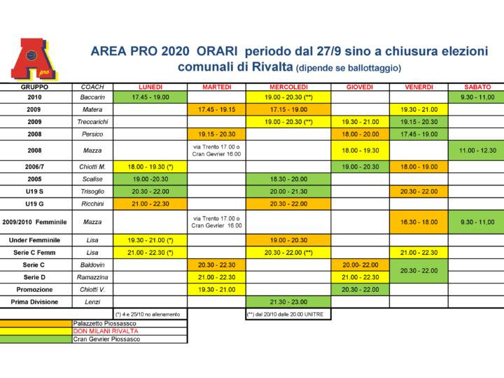 Attenzione: Orari dal 27 settembre 2021 per  elezioni comunali di Rivalta.