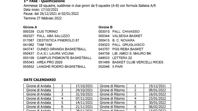Serie C silver 2021-2022: formula, squadre calendario