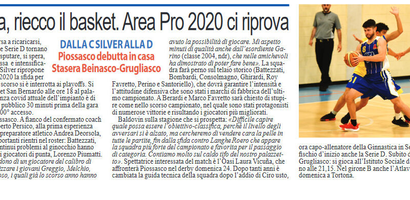 Luna Nuova: Area Pro 2020 ci riprova